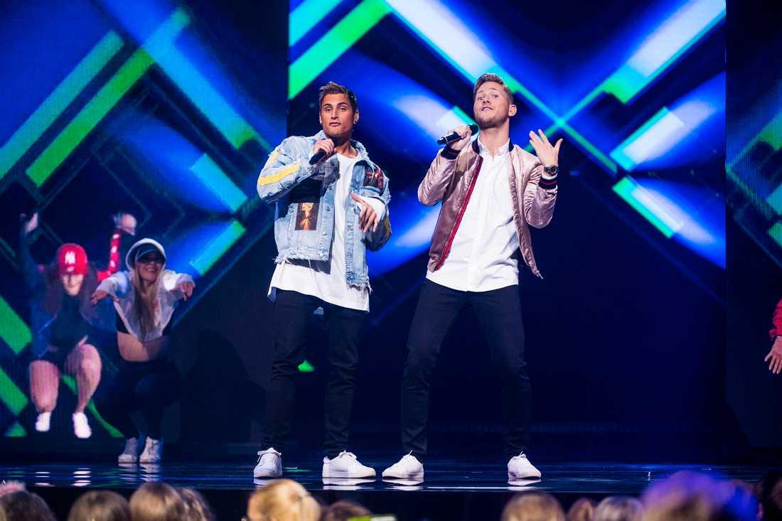Samir och Viktor i Melodifestivalens final