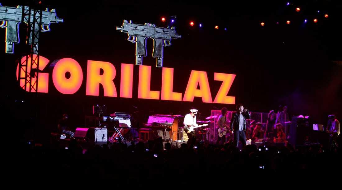 Gorillaz har aldrig tidgare spelat i Sverige.