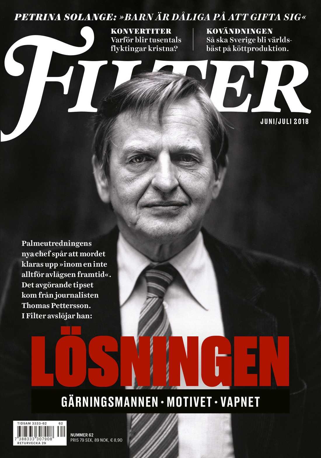 I det senaste numret av magasinet Filter pekas Skandiamannen ut som möjlig Palmemödare.