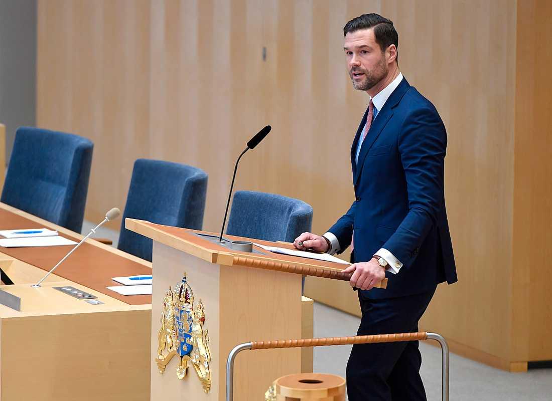 Johan Forssell, rättspolitisk talesperson (M).