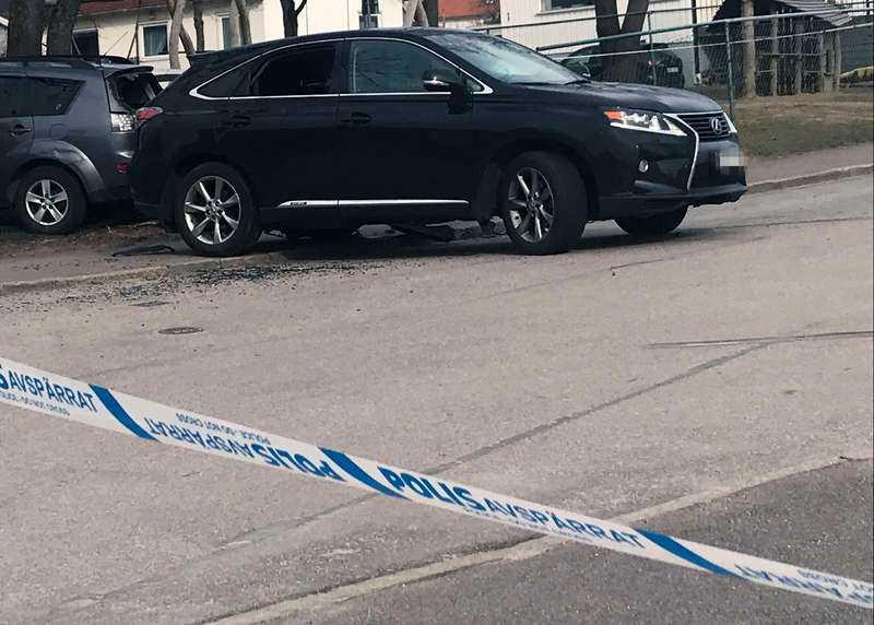 Polisen fick larm om händelsen 15.19 på lördagseftermiddagen.