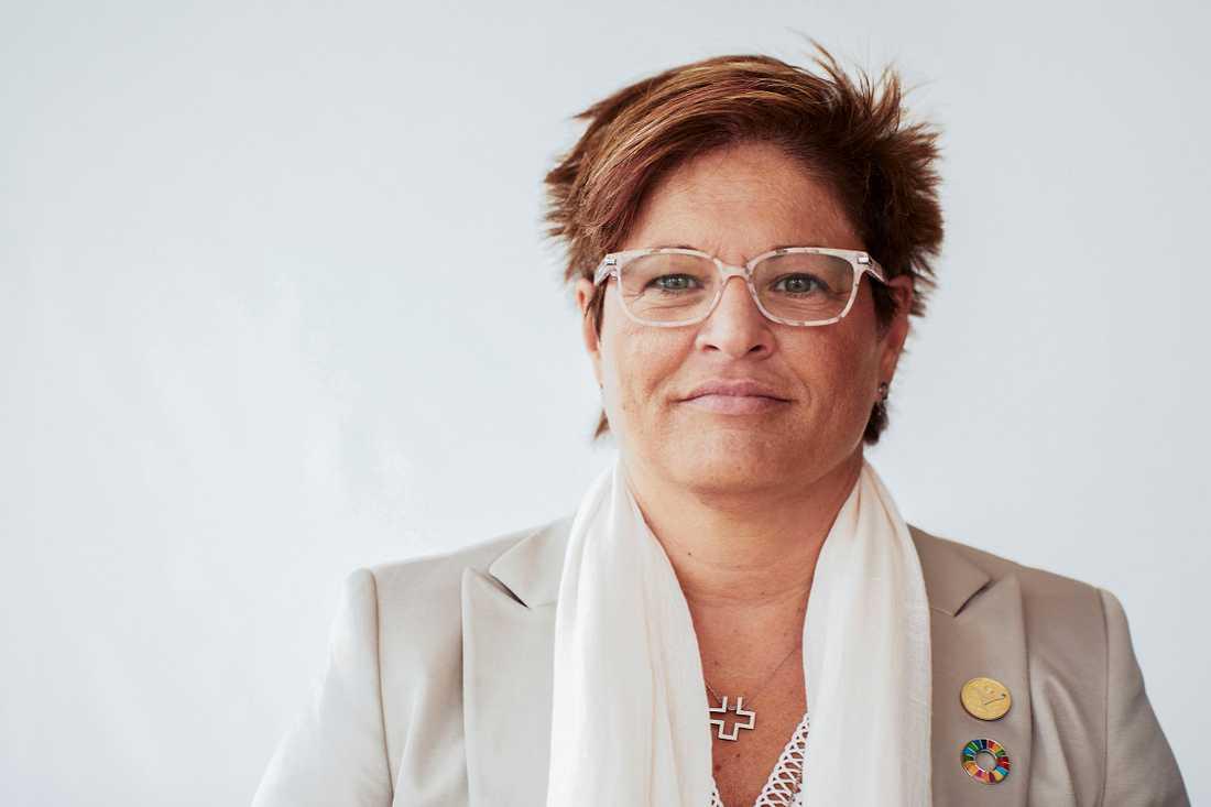 Vårdförbundets ordförande Sineva Ribeiro uppmanar alla att fortsätta att följa restriktionerna för att minimera smittan. Arkivbild.