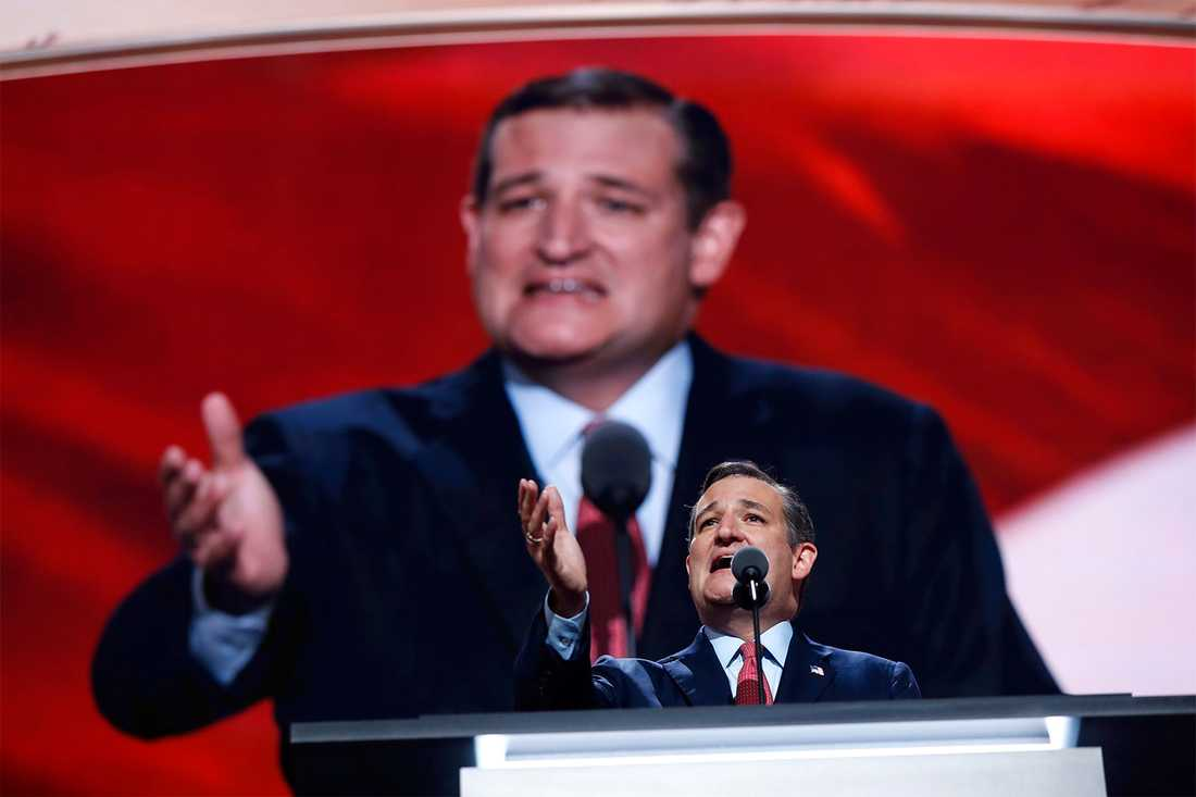 Ted Cruz vägrade uttrycka stöd för Donald Trump...