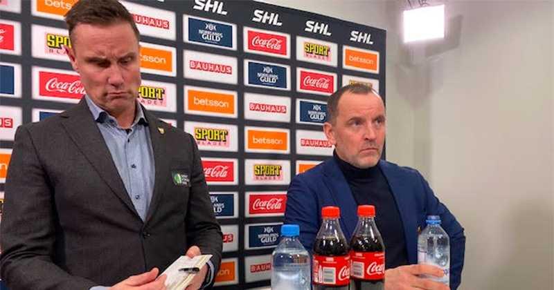 Roger Rönnberg och Bulan Berglund osams.