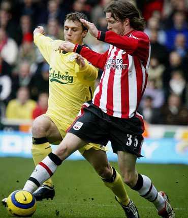 Mikael Nilsson är en av flera svenskar som representerat Southampton under 2000-talet. Bilden är tagen 2005.