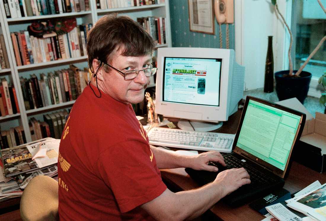 Lasse Sandlin på Aftonbladets redaktion 1999.