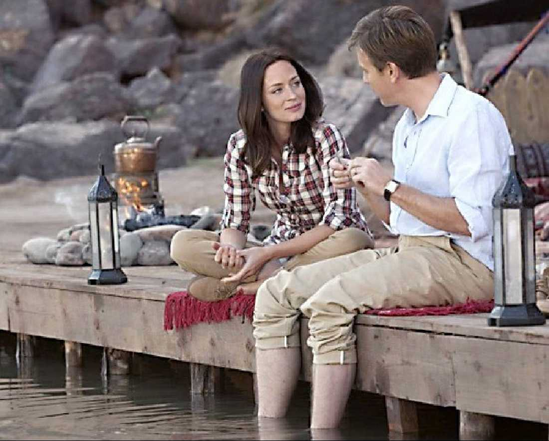 """Blunt och McGregor i """"Laxfiske i Jemen""""."""