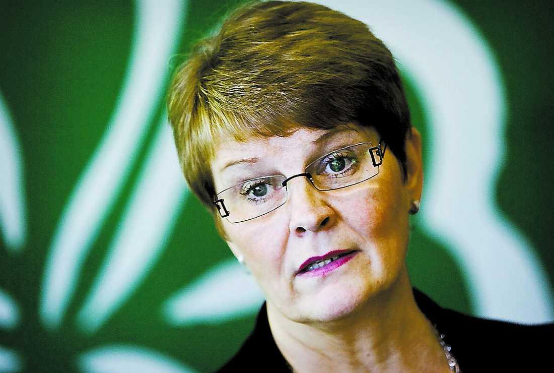 Jobba mer och längre! Centerns Maud Olofsson vill ha en diskussion om pensionsåldern.