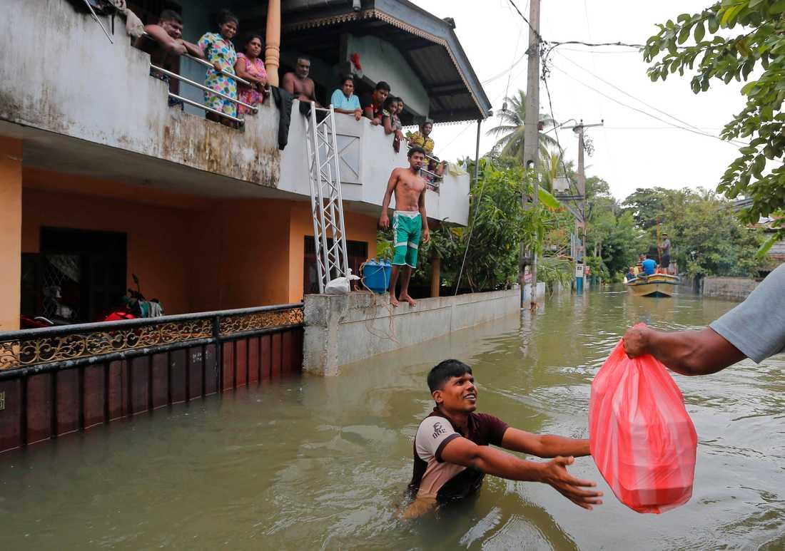 Sri Lanka drabbas hårt av översvämningar, som förväntas bli kraftigare på grund av klimatförändringarna. Arkivbild.