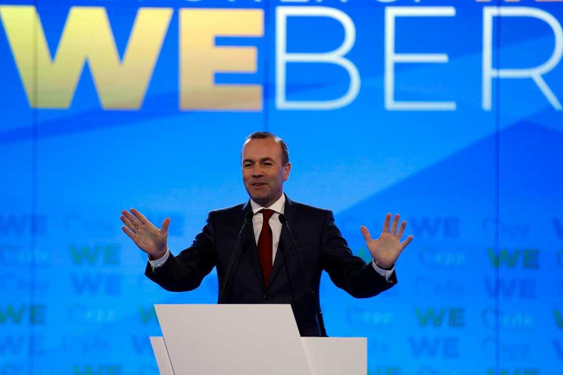 Tyske Manfred Weber är gruppledare för kristdemokratiskt konservativa partigruppen EPP i EU-parlamentet och kampanjar just nu för att bli näste ordförande i EU-kommissionen. Arkivfoto.