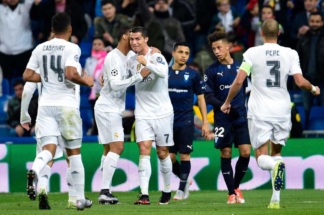 När Malmö mötte Real Madrid i Champions league blev klasskillnaden tydlig.