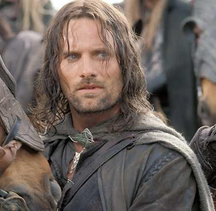 Viggo Mortensen som Aragorn.