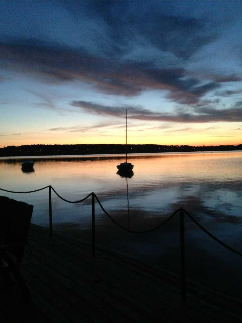 Härlig sommarkväll i Borlänge.