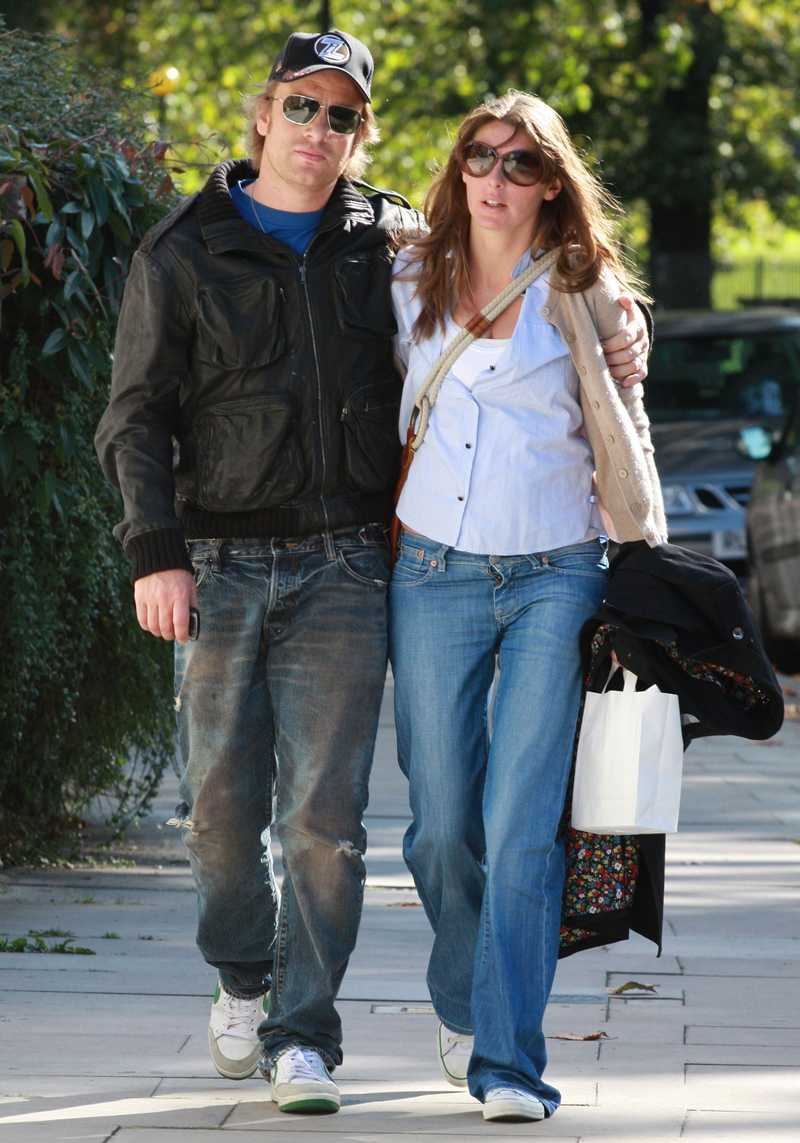 Jamie Oliver med hustrun Jools.