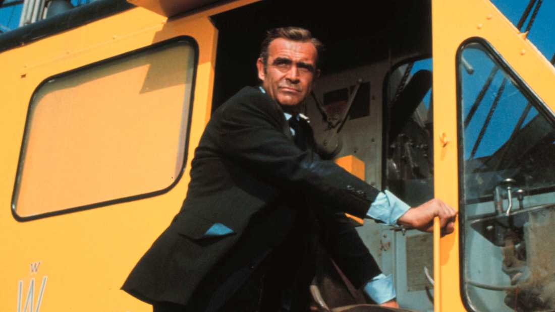 "Sean Connery som Bond i ""Diamantfeber""."