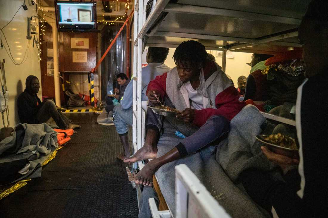 Migranter ombord Sea Watch 3.