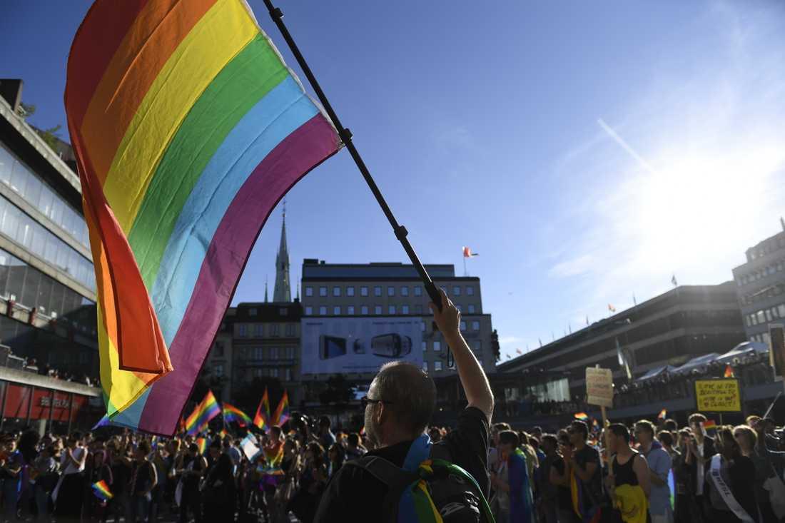 Regeringen vill bland annat stärka hbtq-personers rättigheter. Arkivbild.
