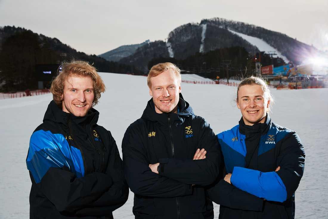Viktor Andersson, Victor Öhling Norberg och Erik Mobärg är svenska herrarna i OS.