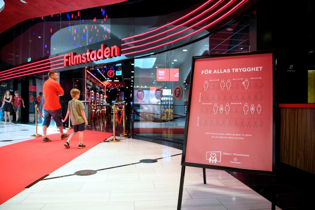 Efter midsommar öppnade Filmstadens biografer igen. Arkivbild.