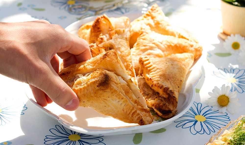 Smördegspaket med valnötskräm och päron