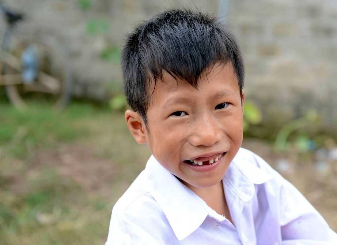 Trung föddes med ett hål i skiljeväggen mellan hjärtkamrarna.
