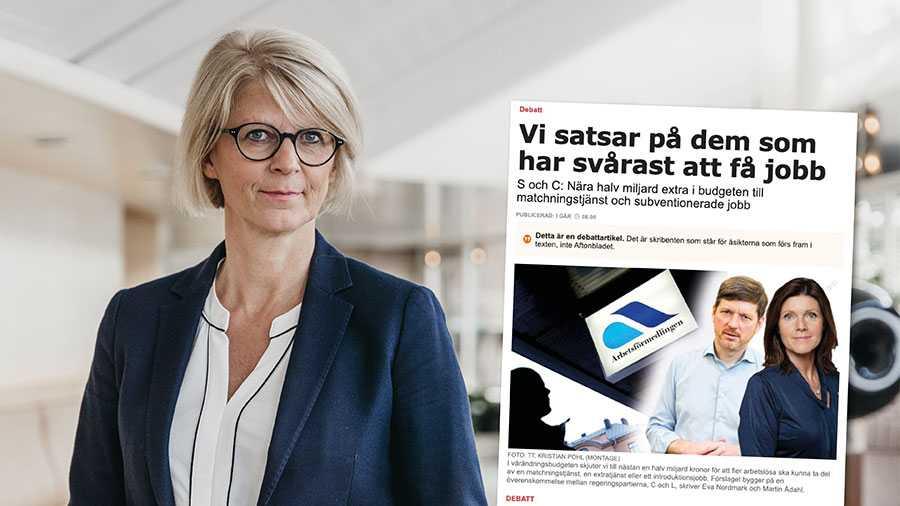 S och C tror att det är ineffektiva extratjänster som ska få långtidsarbetslösa i jobb. Orsaken till problemet är i stället socialdemokraternas bidragslinje. Replik från Elisabeth Svantesson.