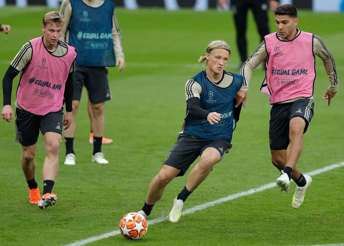 Kasper Dolberg lämnade Ajax i somras för Nice.