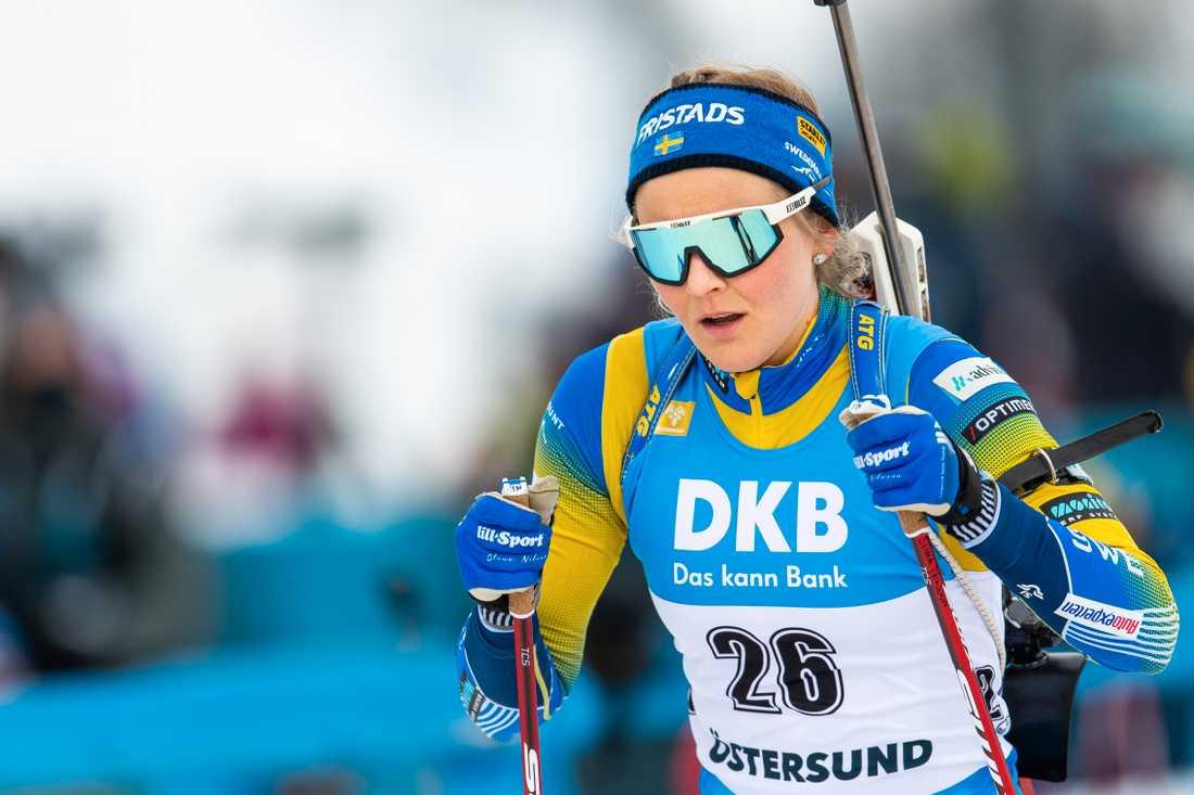 Stina Nilsson tävlar i skidskytte SM i Östersund i helgen. Sportbladet sänder tävlingarna fredag, lördag och söndag.