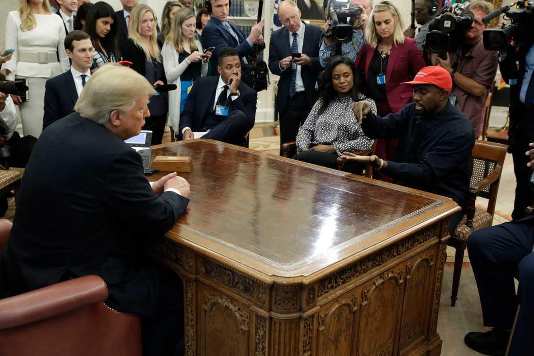 Donald Trump och Kanye West i Vita huset.