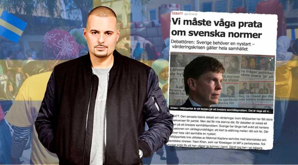 Vad är svenska värderingar? Syftar Andreas Norlén på att bränna ned flyktingboenden och hysa nazistiska sympatier? undrar artisten Carlito i ett svar till moderaten Andreas Norlén.