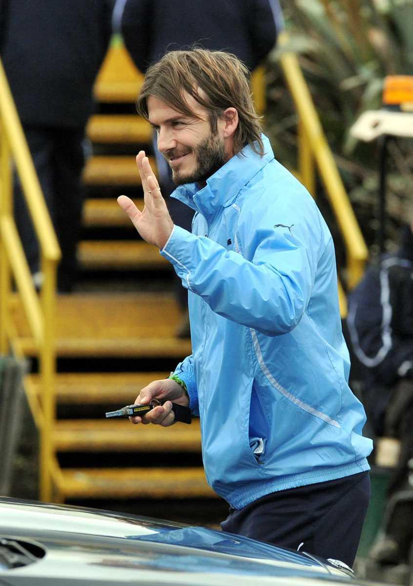 På Tottenhams träningsanläggning i januari 2011.