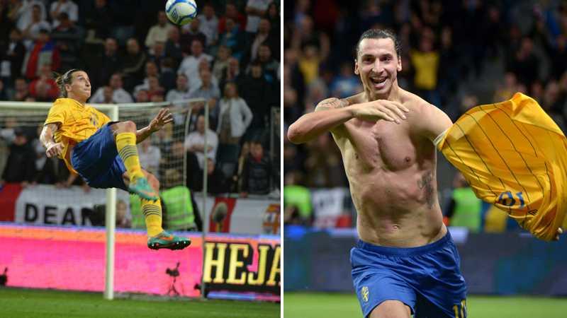 """14:e november 2012 låg Zlatan bakom segern mot England på Friends Arena. 4-2-målet var ett fantastiskt nummer då Zlatan svarade för en """"omöjlig"""" cykelspark."""