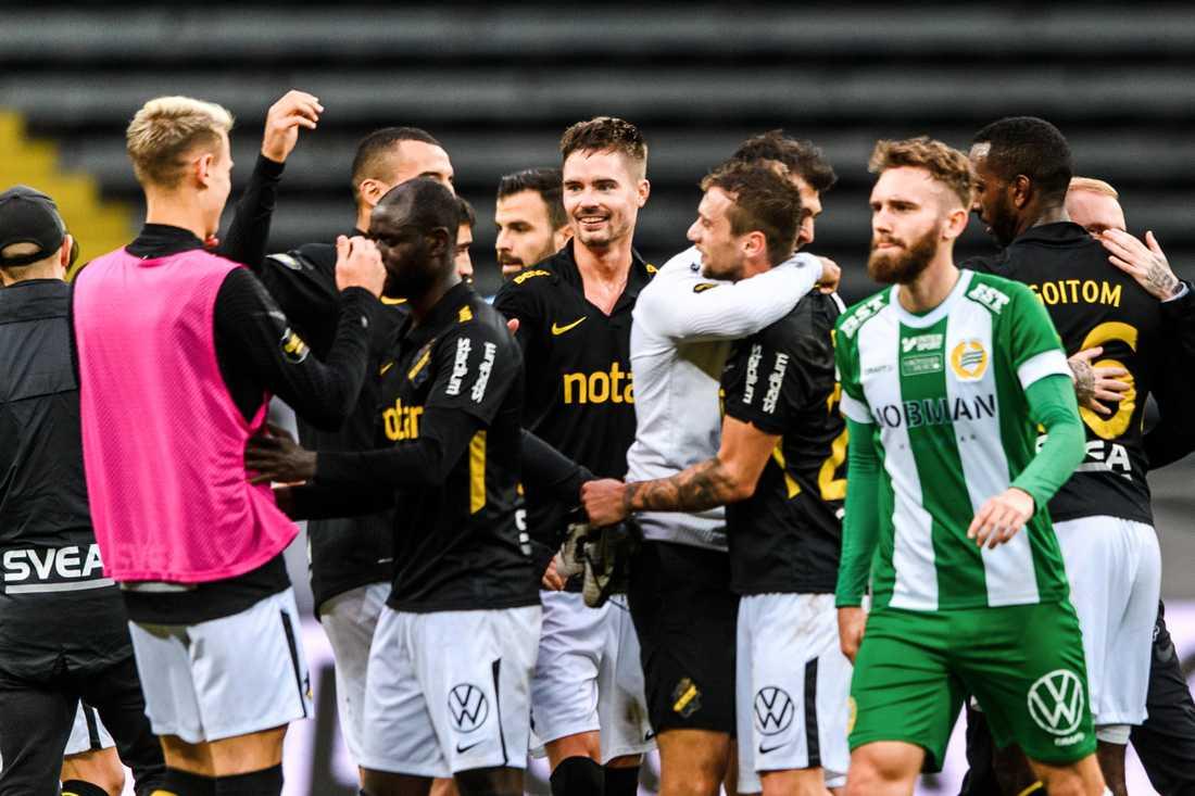 AIK vann med 3–0 i senaste mötet med Hammarby.