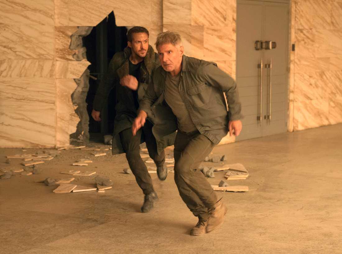 "Harrison Ford och Ryan Gosling i ""Blade runner 2049""."