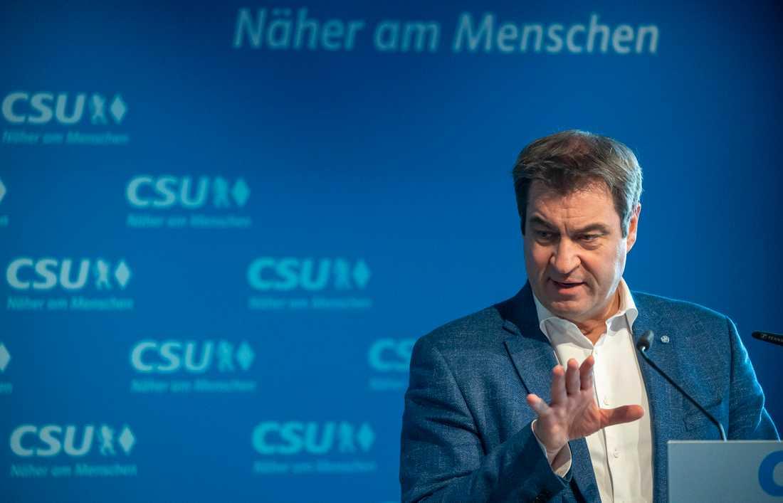 Markus Söder, CSU-basen, vill bli den kristdemokratiska unionens kanslerkandidat. Arkivbild.