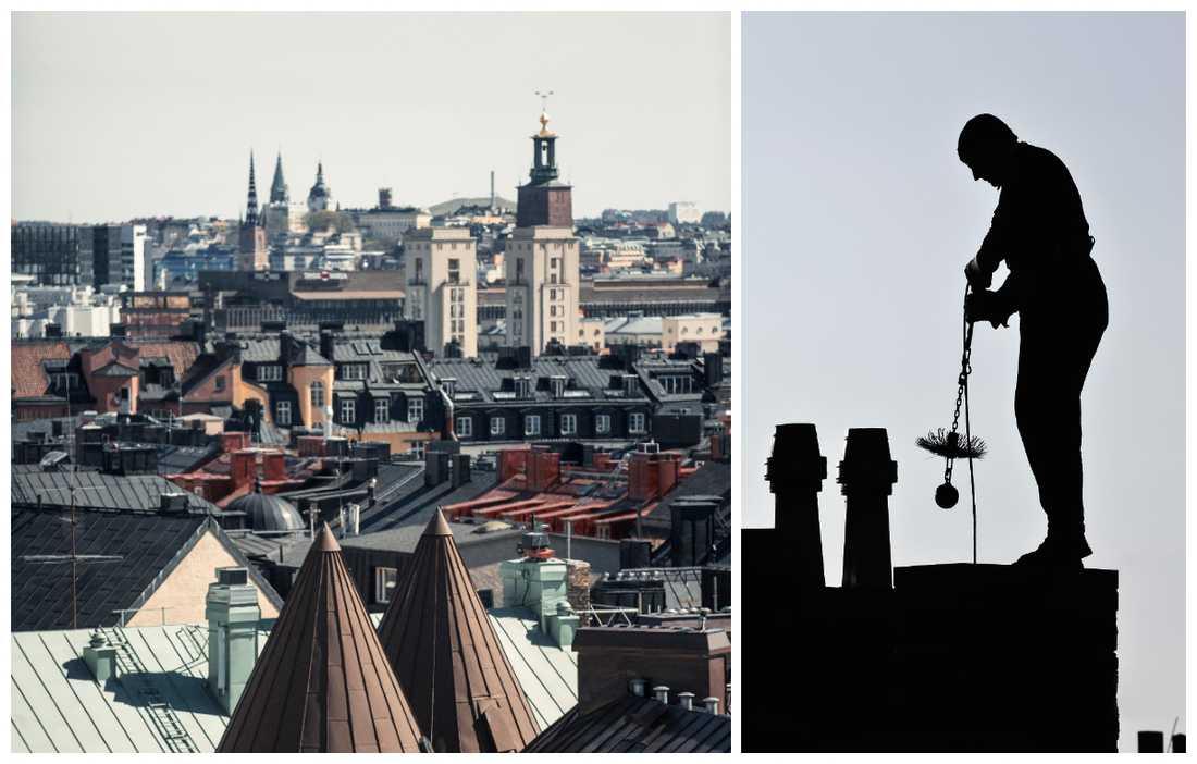 Du får få kvadratmeter med de flesta yrken i Stockholms innerstad.