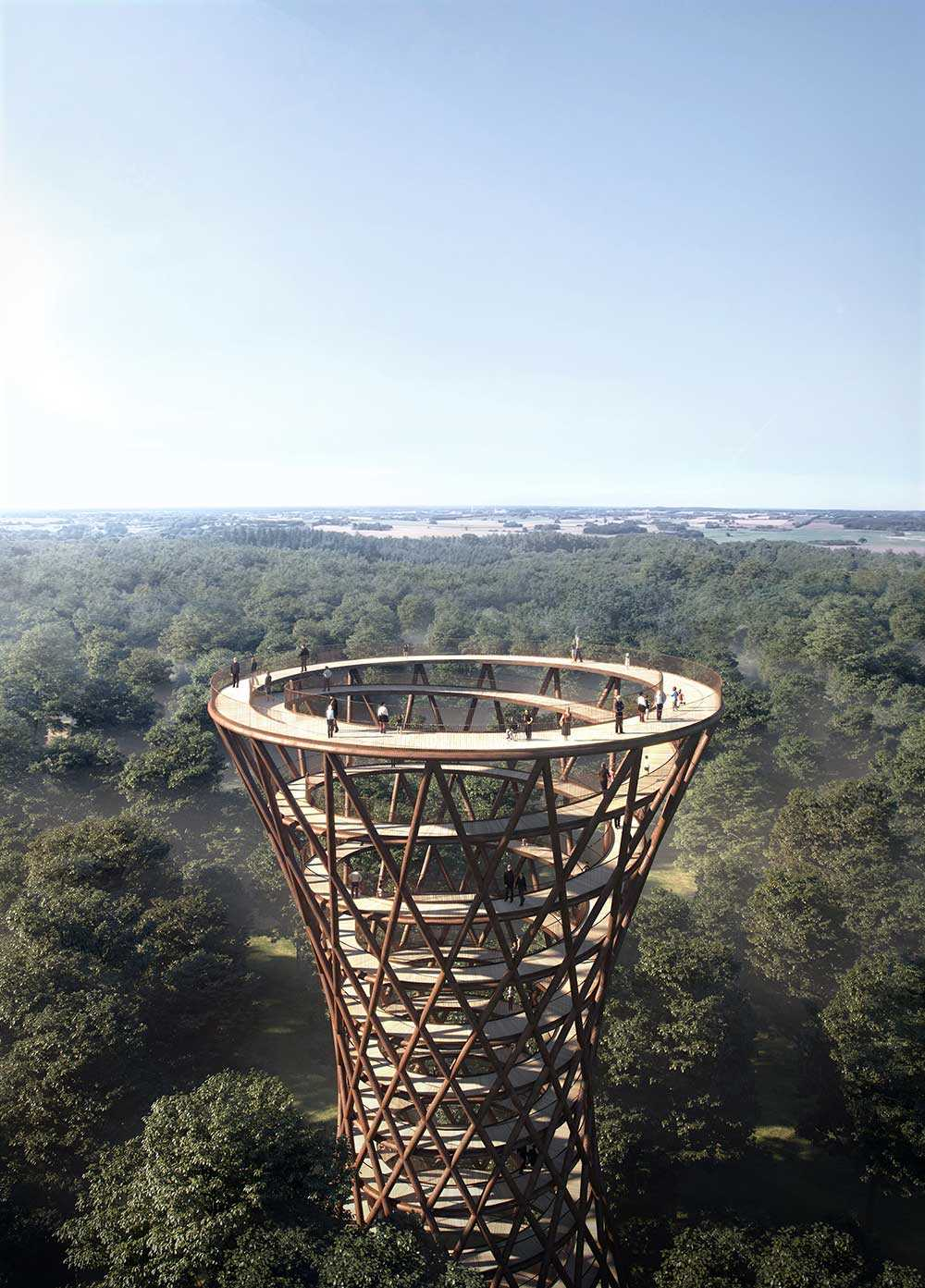 Skiss av Forest Tower