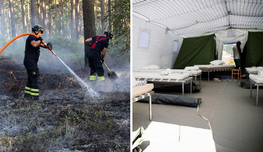 Kallduschen för brandhjältarna – beskattas för tältboende och matlådor