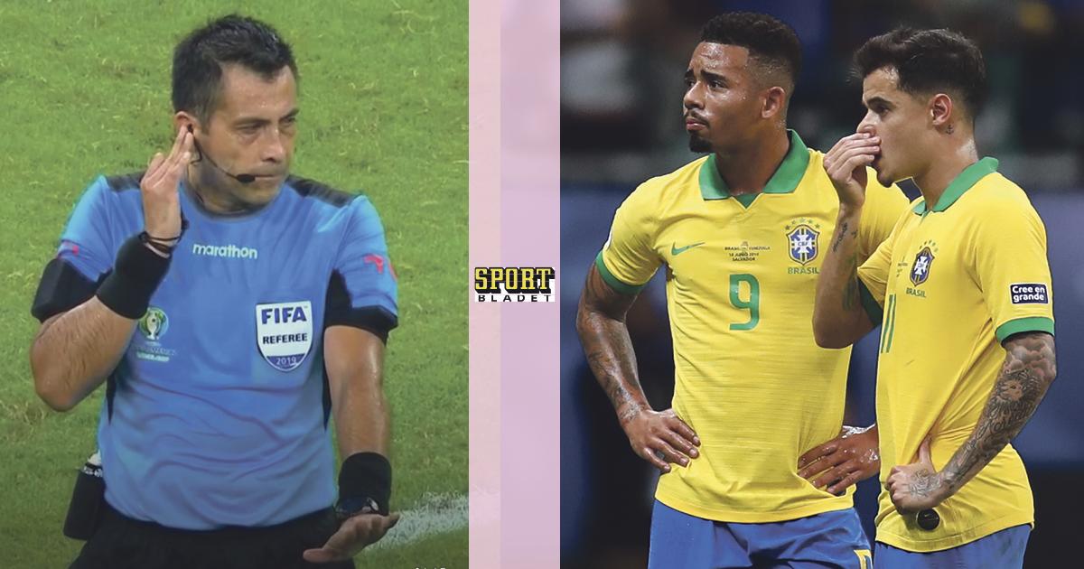 Brasilien fick tre mål bortdömda i Copa America