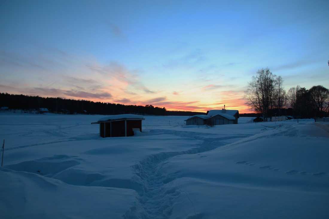 Snö och minusgrader lockar många besökare.