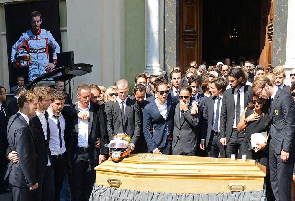 Bianchis begravning