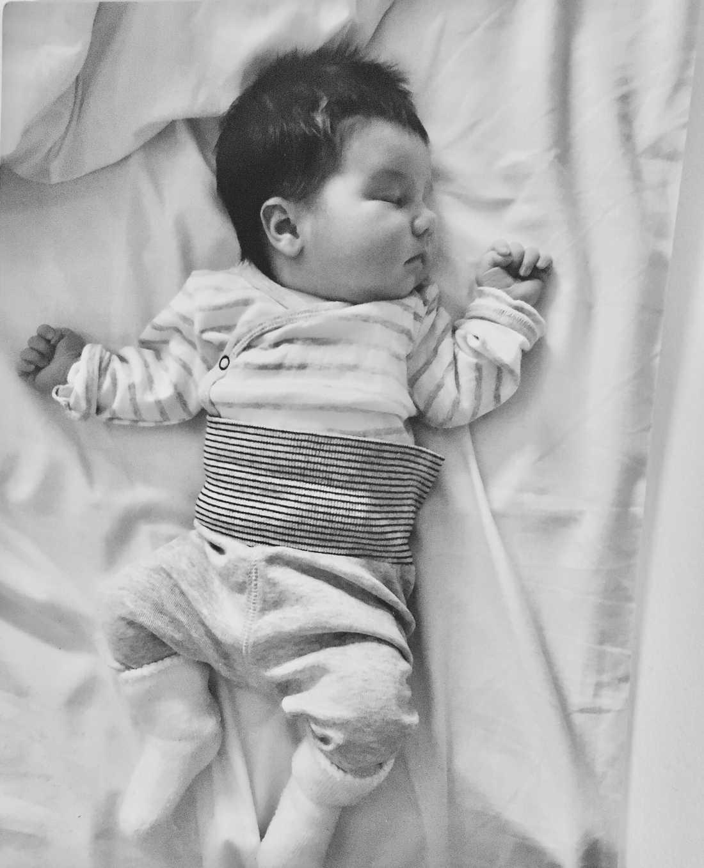 """Här syns Alessia : """"Bilden är tagen på BB , cirka ett dygn gammal . I dag är hon tre år gammal och har fortfarande tjockt och fint hår""""' skriver Malin Lundgren Kallonen, från  Vällingby i Stockholm."""