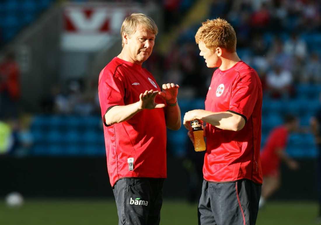 Åge Hareide och John Arne Riise.