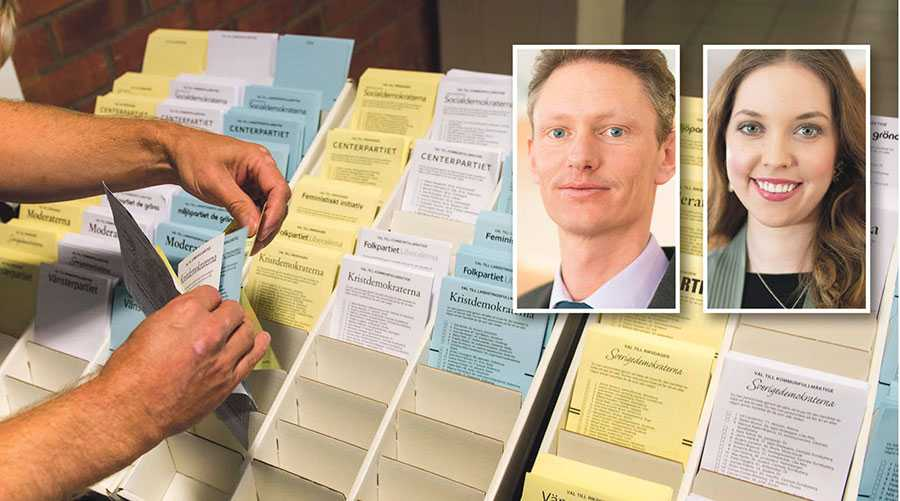 Att vi ser en sådan dramatisk ökning av polisanmälningar om valfusk är synnerligen allvarligt då det urholkar medborgarnas förtroende för demokratins viktigaste organ, skriver Matheus Enholm och Angelika Bengtsson.