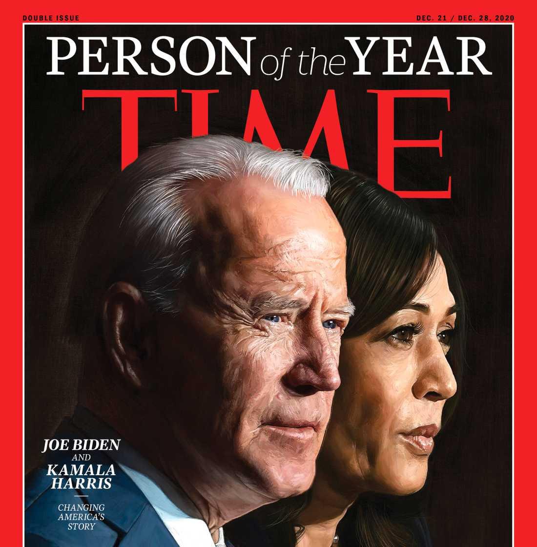Den blivande presidenten Joe Biden och vice president Kamala Harris har utsetts till årets person av det ansetta magasinet TIME.