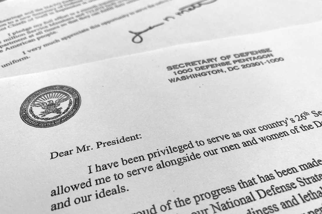 Mattis har skrivit ett avskedsbrev där han tydligt skriver att han och president Donald Trump inte har samma syn på USA:s roll i världen.