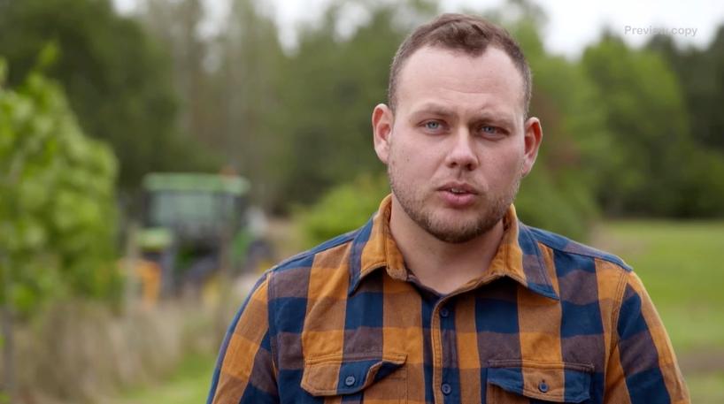 "Skogsbonden Patrik Fernlund i ""Bonde söker fru"" 2020."