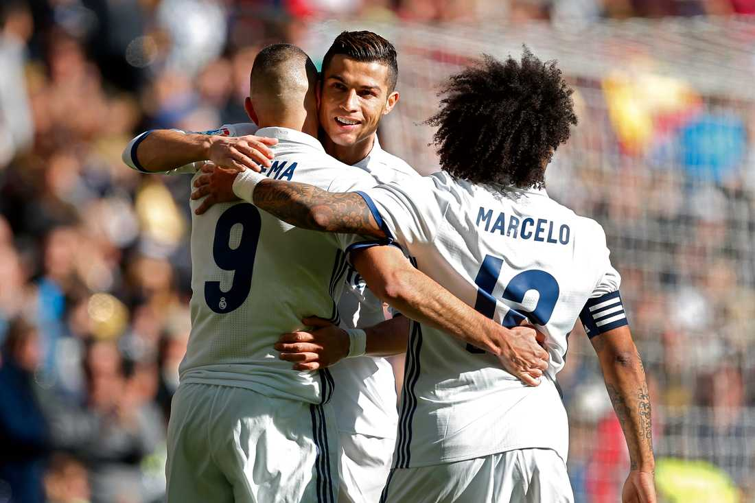 Benzema, Ronaldo och Marcelo