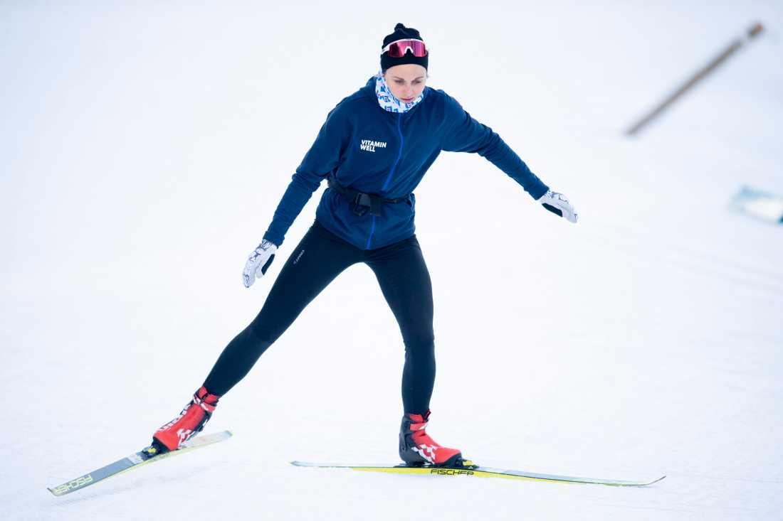Stina Nilsson tränar i Östersund