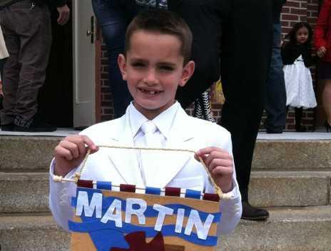 8-årige Martin Richards dog när han väntade på sin pappa